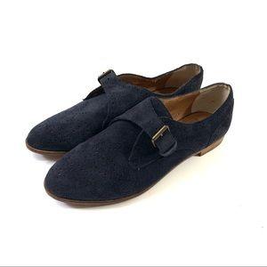 DV Dolce Vita Mello Blue Suede Monk Strap Shoes